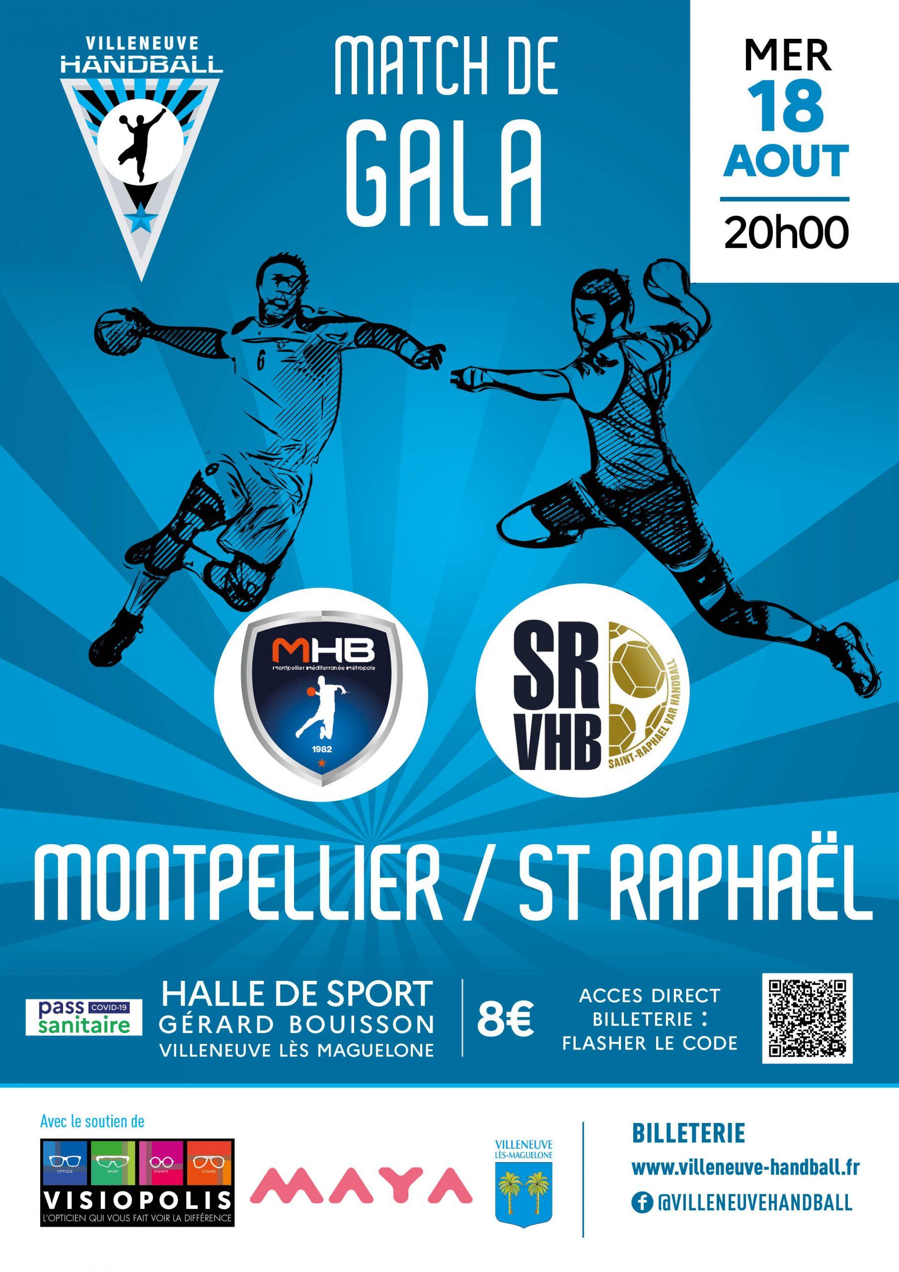 Soirée unique le 18 Août :  Montpellier Handball – St Raphaël